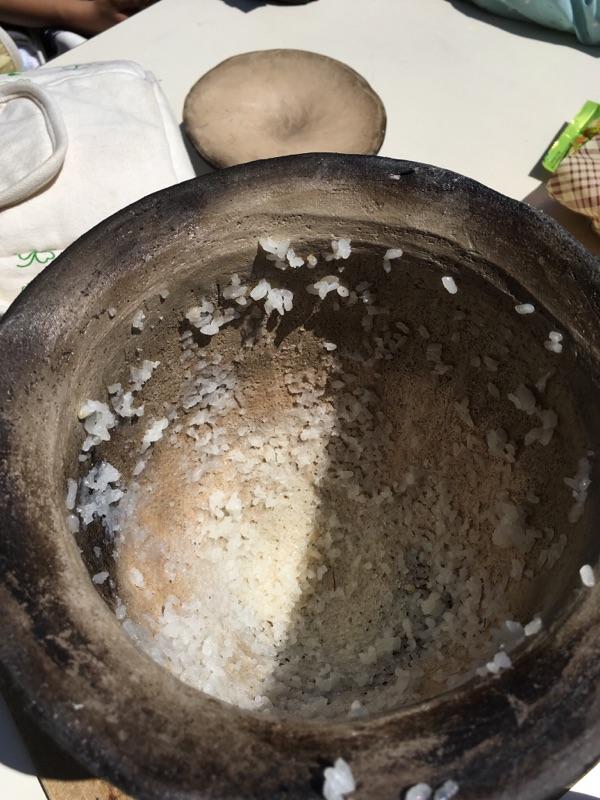 弥生土器のご飯完食