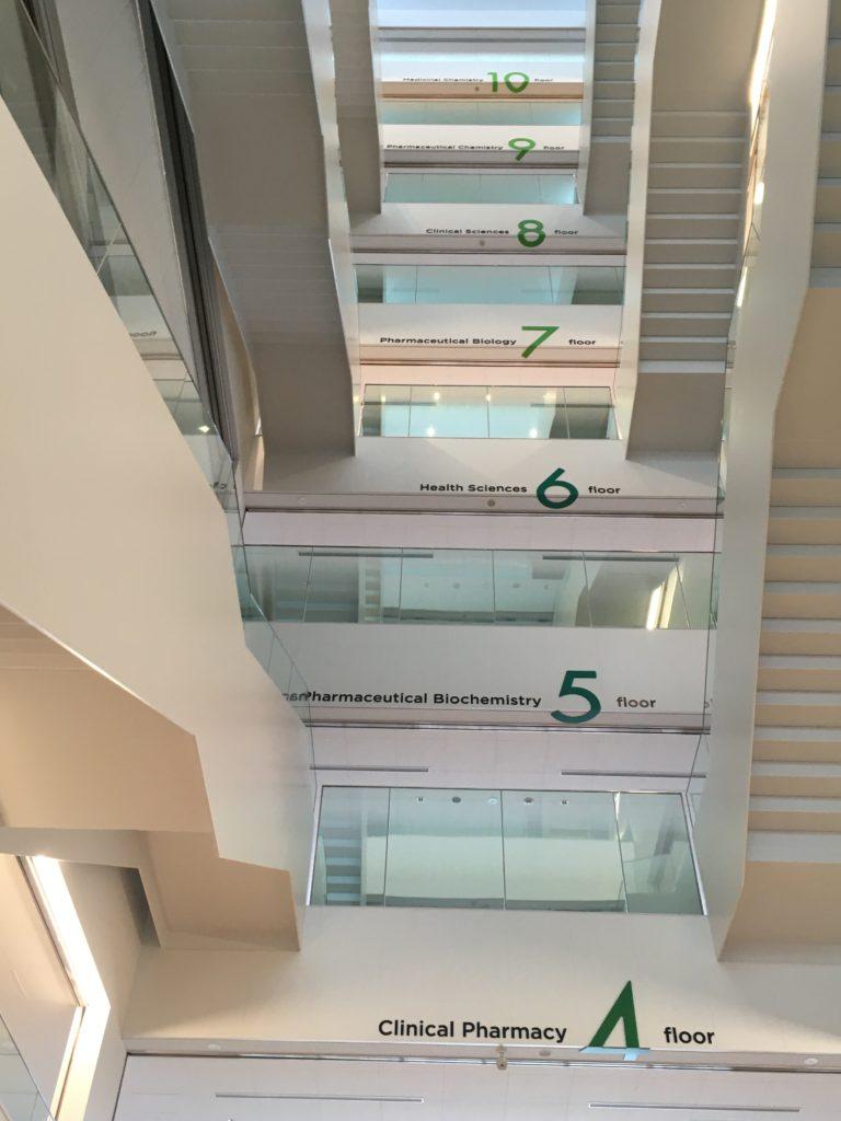 未来創造館階段
